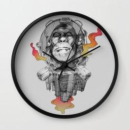 Space Monkey Wall Clock