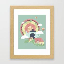 Mandala Tea Framed Art Print