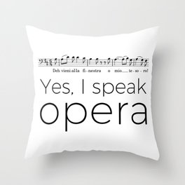 I speak opera (baritone) Throw Pillow