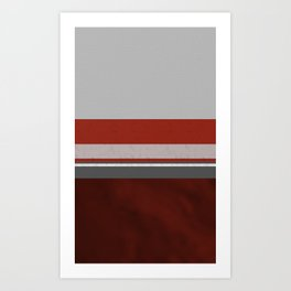 Cozy Maroon Curtains Art Print