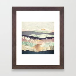 Golden Spring Reflection Framed Art Print