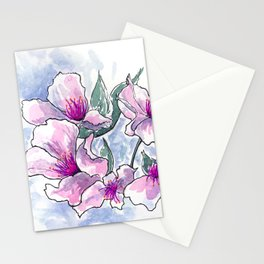 Cherry Blossom Ink and Watercolor Stationery Cards