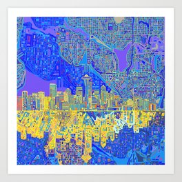 seattle city skyline Art Print
