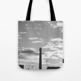 Black And White Chimney Tote Bag