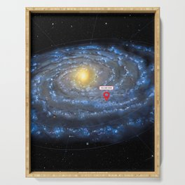 You are here: Milky Way map, Earth Serving Tray