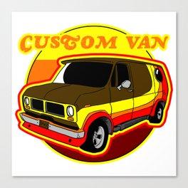 Groovy Custom Van 1970s Design Canvas Print