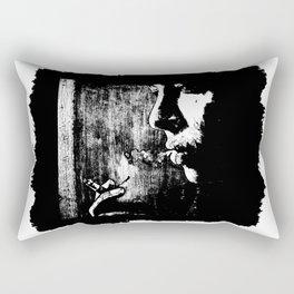 SMOKE - black version Rectangular Pillow