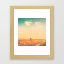 Through Wyoming Framed Art Print