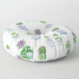 Charming Chinoiserie Topiary  Floor Pillow