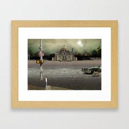 Emergency Exit Framed Art Print