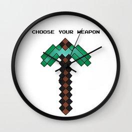 Diamond Pickaxe Wall Clock