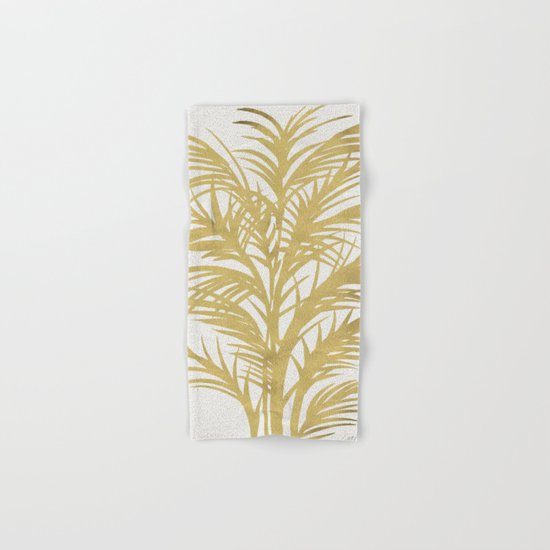 Gold Palms Hand & Bath Towel