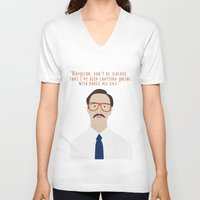 napoleon V-neck T-shirts featuring Napoleon Dynamite by Shop Sarah Alyson