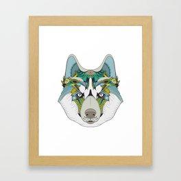 Art Husky Framed Art Print