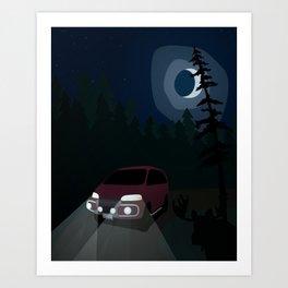 Super Exceed Camper Art Print