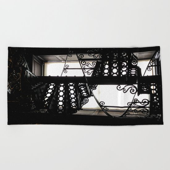 Trinity College Library Spiral Staircase Beach Towel