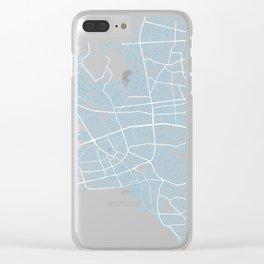 Street MAP Antalya // Blue 2 Clear iPhone Case