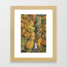 Autumn funicular Framed Art Print