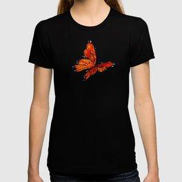 Orange Watercolor Butterfly Design T-shirt
