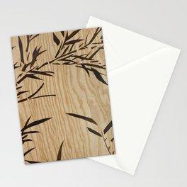 Japanese bamboo buddha wood art Stationery Cards