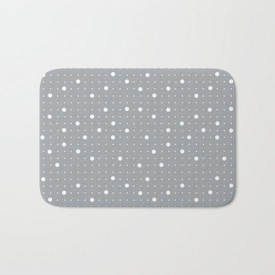 Pin Points Grey Bath Mat