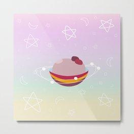 sweet galaxy plum pudding Metal Print