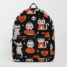 Halloween Kitties (Black) Backpack