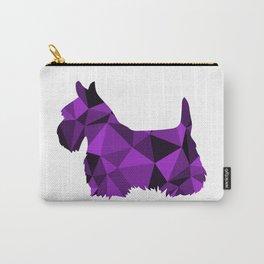 Geo Scottie - Purple Carry-All Pouch