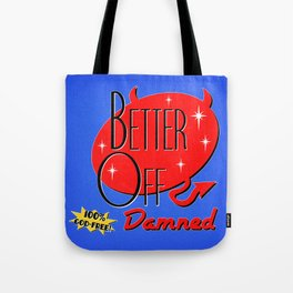 Retro Damned Tote Bag