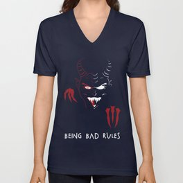 Being Bad Rules Unisex V-Neck