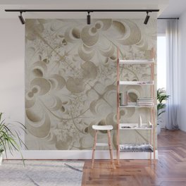 Abstract beige pattern Wall Mural
