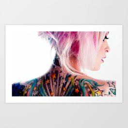 Tribute to Suicide Girls 3 Art Print