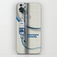 vodka iPhone & iPod Skins featuring Vodka remedy by Tony Vazquez