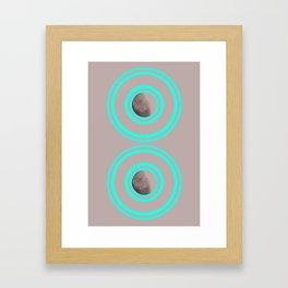 Twin Satellites  Framed Art Print