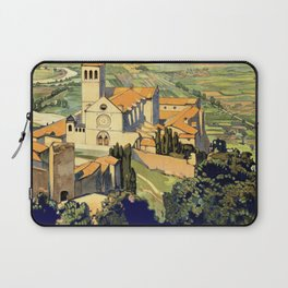 Vintage Litho Travel ad Assisi Italy Laptop Sleeve