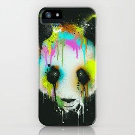 Technicolour Panda iPhone Case