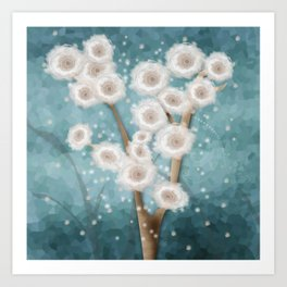 New year's design . Winter. Art Print