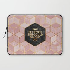 She believed she could so she did Laptop Sleeve