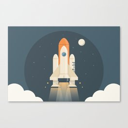 Spaceship Launch Canvas Print
