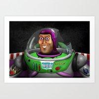 buzz lightyear Art Prints featuring Buzz Lightyear by Ben Hayward