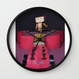 Danbo Walking on the guitar Wall Clock