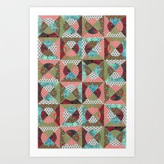 collage mix paper Art Print