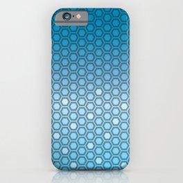 Hexagon in Blue iPhone Case
