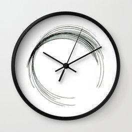 circle scrawl draw Wall Clock