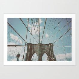 BROOKLYN'S BRIDGE Art Print