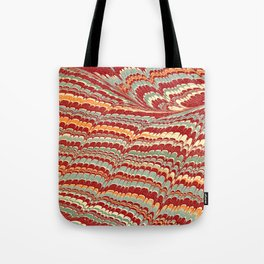 Vintage Marbled Design Tote Bag