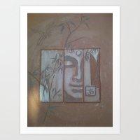 abstract peace Art Print