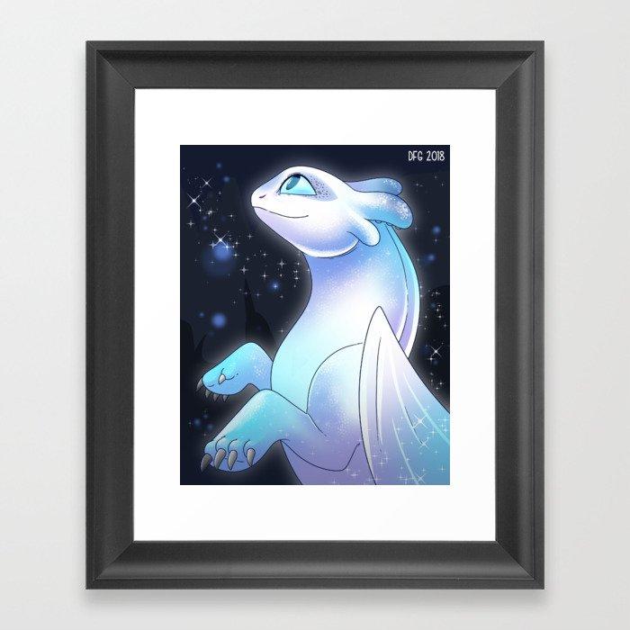 Light Fury Dragon Gerahmter Kunstdruck
