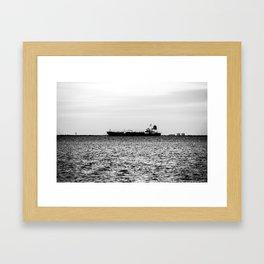 Ship on the Horizon Framed Art Print