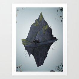 Flying Mountain Art Print
